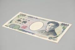 日本人的钞票1000日元 免版税库存照片