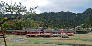 日本人神圣的木寺庙在宫岛海岛日本 库存图片