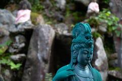 日本人神圣的雕象 免版税库存照片
