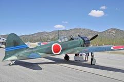 日本人零的战斗机 库存图片