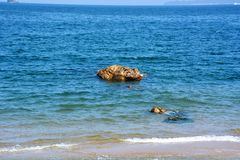 日本人10月海滩/Fukuok Ikinomathubara海滩 图库摄影