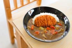 日本人Tonkatsu咖喱饭 图库摄影