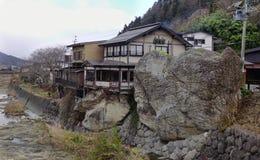 日本传统房子在山形县 库存图片