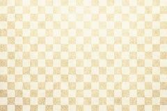 日本传统米黄颜色方格的样式纸纹理背景 向量例证