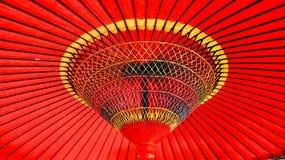 日本传统红色伞 免版税库存图片