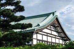 日本传统房子在东京公园  免版税图库摄影