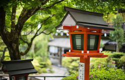 日本传统灯 免版税库存照片