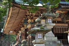 日本传统建筑学,佛教寺庙 免版税图库摄影