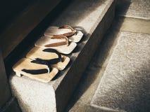 日本传统Zori在日本家 免版税库存照片