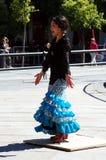 日本佛拉明柯舞曲舞蹈家25 库存照片