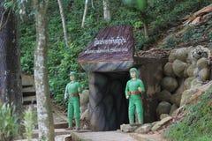 日本军队地下隧道失神状态在世界大战2中 免版税库存图片
