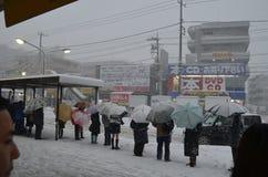 日本冬天 库存照片