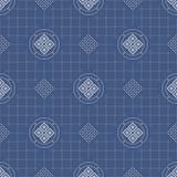 日本几何无缝的样式 免版税库存照片