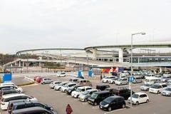 日本出口的停车场 免版税库存照片