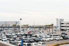日本出口的停车场 免版税库存图片