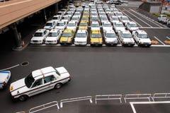 日本出租汽车 库存照片