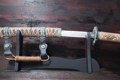 日本刀武士剑 库存图片