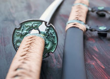 日本刀武士剑 库存照片