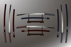 日本刀(日本剑) 免版税库存图片