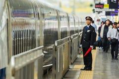 日本列车长 库存图片