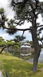日本古老历史城堡 免版税库存图片