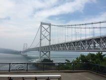 日本吊索桥梁 免版税图库摄影