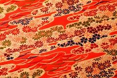 日本和服纹理 库存照片