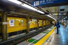 日本地铁在东京,日本 库存照片