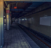 日本地铁站 (被过滤的图象被处理的葡萄酒eff 免版税库存图片