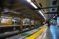 日本地铁通勤者 库存图片