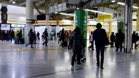 日本地铁驻地的通勤者 影视素材