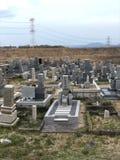 日本坟园 免版税库存照片