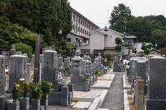 日本坟茔 图库摄影