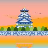日本城堡地标充分世界遗产名录风景 库存图片