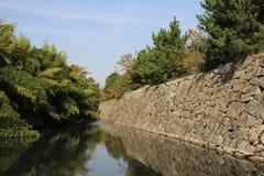 日本城堡墙壁 库存图片