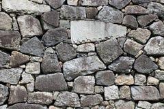 日本城堡石头垒样式 免版税库存图片