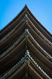 日本塔屋顶细节 库存图片