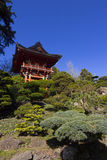 日本塔庭院 免版税库存图片