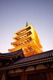 日本塔sensoji寺庙塔 免版税库存图片