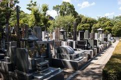 日本墓地 免版税库存图片
