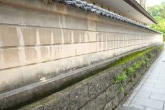 日本墙壁在九州 图库摄影