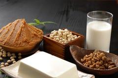 日本大豆被处理的食物 免版税库存照片
