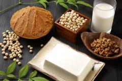 日本大豆被处理的食物 库存照片