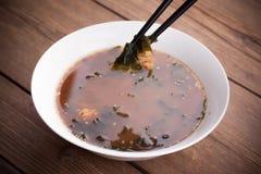 日本大酱汤 免版税库存照片