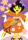 日本女孩 库存照片