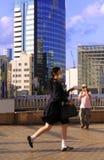 日本女小学生 免版税图库摄影