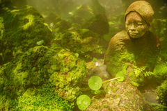 日本妇女雕塑 免版税库存图片