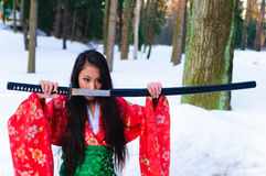 日本妇女年轻人 库存图片