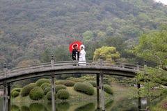 日本婚礼夫妇 免版税图库摄影