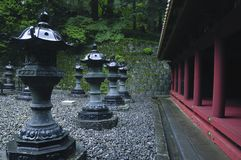 日本室外寺庙 免版税库存照片
